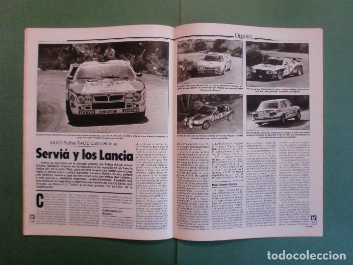 Coches y Motocicletas: VELOCIDAD Nº 1227 30/3/1985 LANCIA Y-1O T - OPEL KADETT 1.6 GLS - VW POLO CLASIC - MERLIN GALLACH - Foto 11 - 194749248