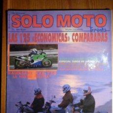 Coches y Motocicletas: SOLO MOTO TREINTA - Nº 73 - MARZO 1989 - KAWASAKI ZXR-750. Lote 194904573