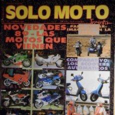 Coches y Motocicletas: SOLO MOTO TREINTA - Nº 72 - FEBRERO 1989 -COMPARATIVA: HONDA CR 125, YAMAHA YZ 125, KAWASAKI KX 125,. Lote 194904677