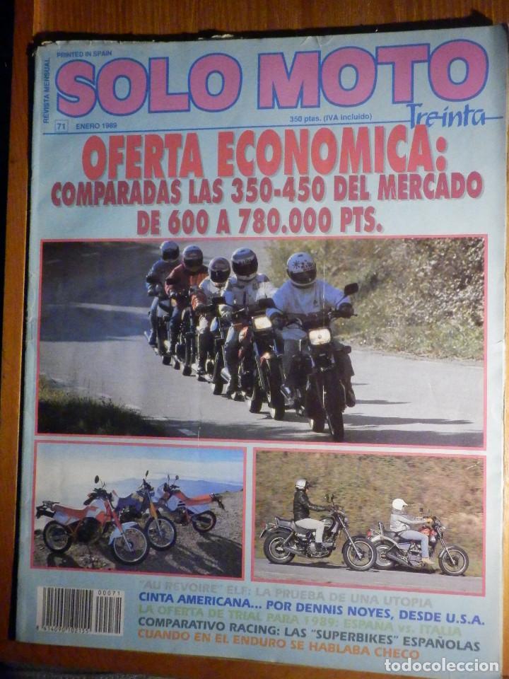 SOLO MOTO TREINTA - Nº 71 - ENERO 1989 - (Coches y Motocicletas - Revistas de Motos y Motocicletas)