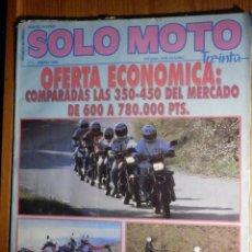 Coches y Motocicletas: SOLO MOTO TREINTA - Nº 71 - ENERO 1989 -. Lote 194904771