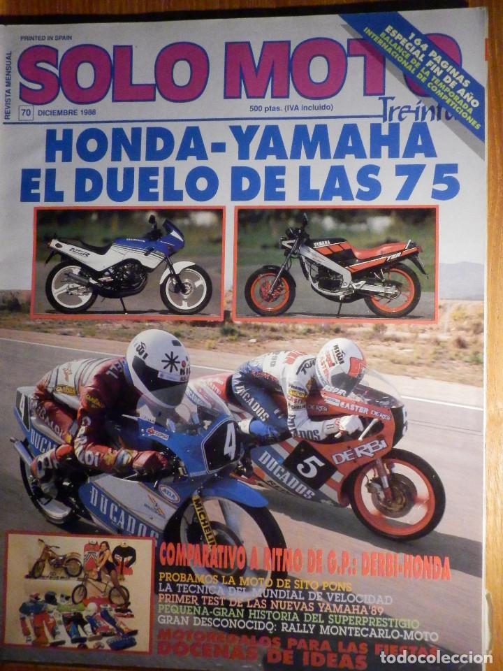 SOLO MOTO TREINTA - Nº 70 - DICIEMBRE 1988 - (Coches y Motocicletas - Revistas de Motos y Motocicletas)