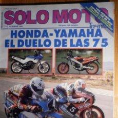 Coches y Motocicletas: SOLO MOTO TREINTA - Nº 70 - DICIEMBRE 1988 -. Lote 194904893