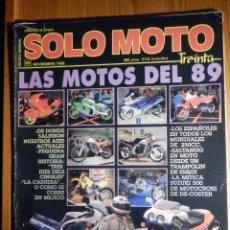 Coches y Motocicletas: SOLO MOTO TREINTA - Nº 69 - NOVIEMBRE 1988 - PRUEBA: YAMAHA FZ 750. COMP: HONDA RC 30 Y SUZUKI GSX R. Lote 194905091