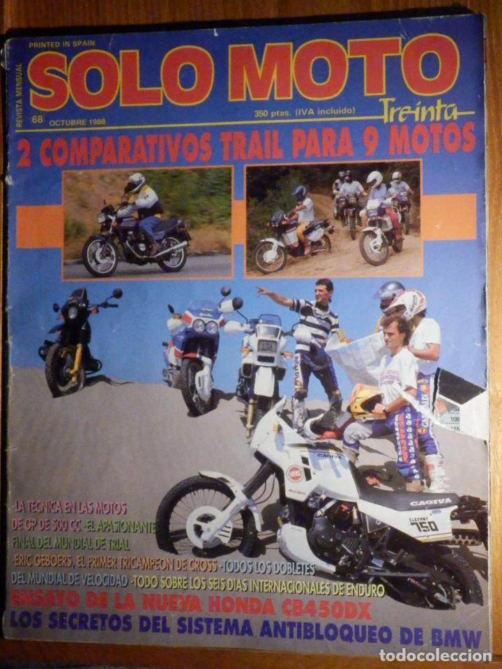 SOLO MOTO TREINTA - Nº 68 - OCTUBRE 1988 - PRUEBA: YAMAHA FZ 750. COMP: HONDA RC 30 Y SUZUKI GSX R (Coches y Motocicletas - Revistas de Motos y Motocicletas)