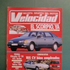 Coches y Motocicletas: VELOCIDAD Nº 1226 23/3/1985 CITROËN CX 25 GTI T - CITROËN BX ALFA 33 - GUZZI V65 SUZUKI SJ - VOLVO. Lote 194923432