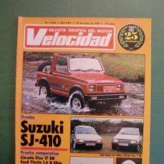 Coches y Motocicletas: VELOCIDAD Nº 1235 25/5/1985 CITROËN VISA 17 RD FORD FIESTA 1.6 - SUZUKI SJ-410 - ROLLS - PEGASO. Lote 194970415