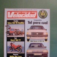 Coches y Motocicletas: VELOCIDAD Nº 1240 29/6/1985 CIRCUITO JEREZ - VOLVO 760 TD - OPEL CORSA O PEUGEOT 205 - GUZZI V65 TT . Lote 194971570
