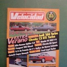 Coches y Motocicletas: VELOCIDAD Nº 1242 13/7/1985 ALFA SPIDER - CITROËN BX O AUDI 200 - HONDA VF 500 - BX SPORT - SEAT. Lote 194971897