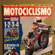 Coches y Motocicletas: MOTOCICLISMO N° 1347 (DICIEMBRE 1993). COMPARATIVA BMW 1-2-3-4 CILINDROS, KAWA ZX 9R,.... Lote 195030948
