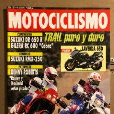 "Coches y Motocicletas: MOTOCICLISMO N° 1275 (JULIO 2002). SUZUKI DR 650 R VS GILERA RC 600 ""COBRA"", SUZUKI RMX-250,.... Lote 195031170"