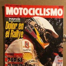 Coches y Motocicletas: MOTOCICLISMO N° 1247 (1992). DUCATI 750 SS, HONDA CB 250, PARIS - EL CABO,..... Lote 195031357