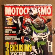 Coches y Motocicletas: MOTOCICLISMO N° 1410 (FEBRERO 1995). KASASAKI ZX-6R, SUZUKI GSX-R 1100 W, KAWA KLR 650,.... Lote 195035435