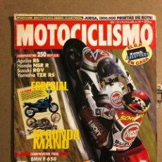 Coches y Motocicletas: MOTOCICLISMO N° 1417 (ABRIL 1995). COMPARATIVA 250: APRILIA RS, HONDA NSR R, SUZUKI RGV, YAMAHA. Lote 195035628