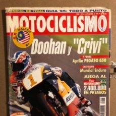 Coches y Motocicletas: MOTOCICLISMO N° 1415 (ABRIL 1995). APRILIA PEGASO 650, HONDA SHADOW 1100 ACE, KAWA VULCAN 800,.... Lote 195035880