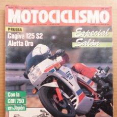 Coches y Motocicletas: MOTOCICLISMO 1003 CAGIVA ALETTA ORO 125 S-2 HONDA CBR 750 HURRICANE. Lote 195137566
