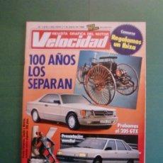 Coches y Motocicletas: VELOCIDAD Nº 1275 1/3/1986 PEUGEOT 205 GTX - RENAULT 21 - MERCEDES 100 AÑOS - PEGASO Z-102 Y DAKAR. Lote 195137637