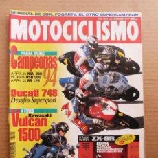 Coches y Motocicletas: MOTOCICLISMO 1394 KAWASAKI VULCAN 1500 ESPECIAL KAWASAKI ZX-9R NINJA DUCATI 748 SP BIPOSTO. Lote 195143752