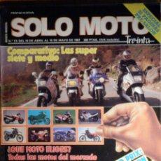 Coches y Motocicletas: SOLO MOTO TREINTA - Nº 51 - ABRIL-MAYO 1987 YAMAHA TZR 250 SUZUKI GSX 750 R HONDA VFR 750 F KAWASAKI. Lote 195154210
