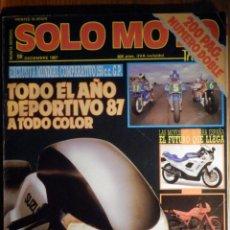 Coches y Motocicletas: SOLO MOTO TREINTA - Nº 58 - DICIEMBRE 1987 HONDA APRILIA YAMAHA YZR 250 GP DOMINATOR 650 SUZUKI GSX . Lote 195154337