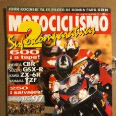 Coches y Motocicletas: MOTOCICLISMO N° 1503 (DICIEMBRE 1996). COMPARATIVA: HONDA CBR, SUZUKI GSX-R, KAWA ZX-6R,.... Lote 195154491