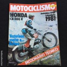 Coches y Motocicletas: REVISTA MOTOCICLISMO Nº 686 DE 1980 CON POSTER HONDA CB 1100 R-. Lote 195168832