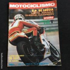 Coches y Motocicletas: REVISTA MOTOCICLISMO Nº 470 DE 1976 CON POSTER COTA 74 Y 123 T. Lote 195170492