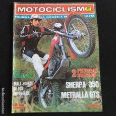 Coches y Motocicletas: REVISTA MOTOCICLISMO Nº 513 DE 1977 CON POSTER BULTACO SHERPA 350-METRALLA GTS. Lote 195171450