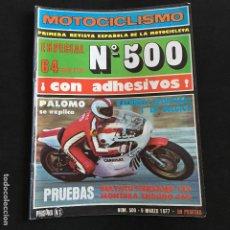 Coches y Motocicletas: REVISTA MOTOCICLISMO Nº 500 DE 1977 CON POSTER BULTACO PURSANG 125-MONTESA ENDURO 360. Lote 195172096