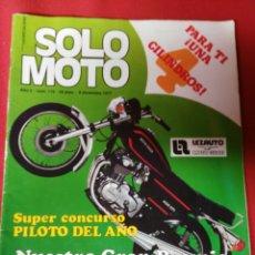 Coches y Motocicletas: REVISTA SOLO MOTO N.119 AÑO 1977. Lote 195203617