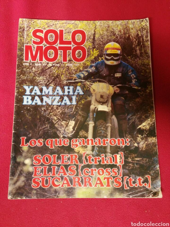 REVISTA SOLO MOTO N.83 AÑO 1977 (Coches y Motocicletas - Revistas de Motos y Motocicletas)