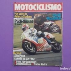 Coches y Motocicletas: MOTOCICLISMO Nº847 1984 SITO PONS PUESTO 3 LAS NUEVAS MOTOS DE PONS Y CARDUS PUCH- SUZUKI FIRMADO. Lote 195212871