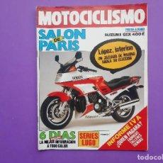 Coches y Motocicletas: MOTOCICLISMO Nº923 AÑO 1986 REPORTAJE ENTREVISTA A RICARDO TORMO POSTER CENTRAL SUZUKI GSX 400E . Lote 195216666