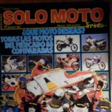 Coches y Motocicletas: SOLO MOTO TREINTA - Nº 61 - MARZO 1988 HONDA NS 125 R / YAMAHA TZR 125 / SUZUKI RG 125 / CAGIVA. Lote 240189690