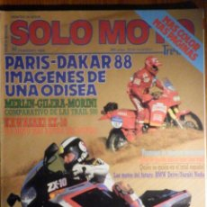 Coches y Motocicletas: SOLO MOTO TREINTA - Nº 60 - FEBRERO 1988 KAWASAKI ZX 10. COMP: GILERA DAKOTA 500,MERLIN NOMADA 500. Lote 195259136