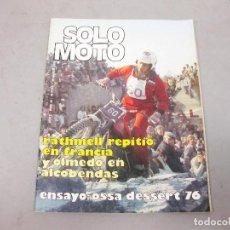Coches y Motocicletas: REVISTA SOLO MOTO Nº 30 DE MARZO DE 1976. Lote 195269252