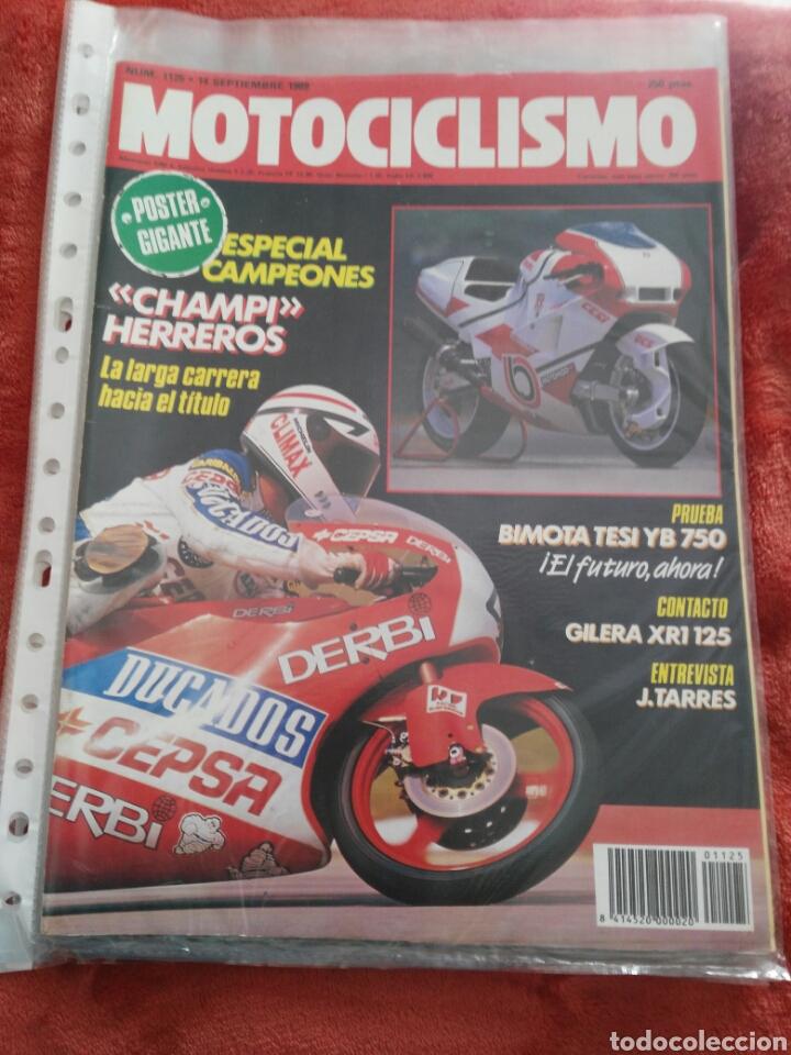 REVISTA MOTOCICLISMO N.1125 AÑO 1989 (Coches y Motocicletas - Revistas de Motos y Motocicletas)