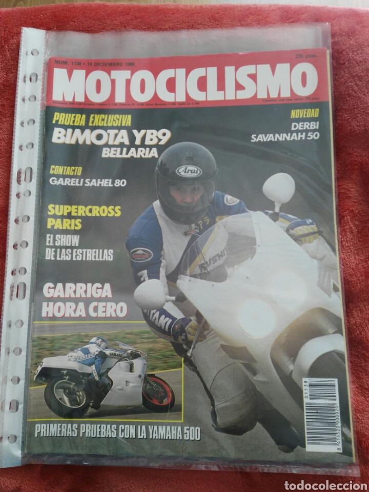 REVISTA MOTOCICLISMO N.1138 AÑO 1989 (Coches y Motocicletas - Revistas de Motos y Motocicletas)