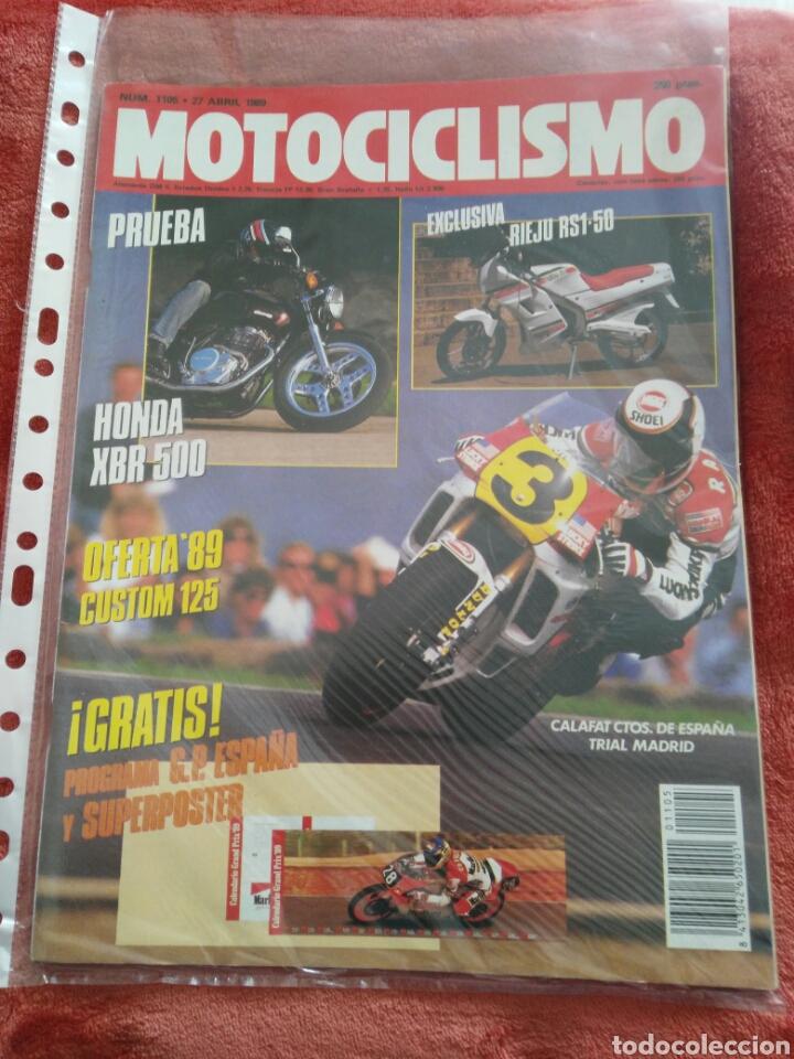 REVISTA MOTOCICLISMO N.1105 AÑO 1989 (Coches y Motocicletas - Revistas de Motos y Motocicletas)