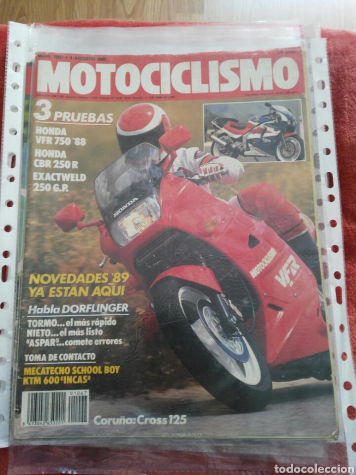 REVISTA MOTOCICLISMO N.1067 AÑO 1988 (Coches y Motocicletas - Revistas de Motos y Motocicletas)