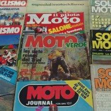 Coches y Motocicletas: LOTE DE 10 REVISTAS DE MOTO ANTIGUAS. Lote 196511137