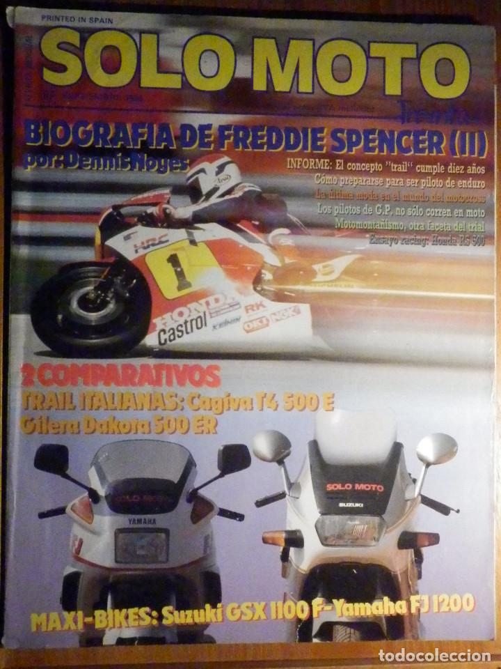 SOLO MOTO TREINTA - Nº 67 - SEPTIEMBRE 1988 - HONDA RS 500 SUZUKI GSX 1100F YAMAHA FJ 1200 JORALP 50 segunda mano