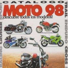 Coches y Motocicletas: CATÁLOGO DE MOTOS 1998 -MOTO 98-. Lote 197297007
