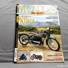 Coches y Motocicletas: MOTOS DE AYER Nº 101 PATRIA 4 1922 HONDA CB1100R MOTOSACOCHE 500 1934. Lote 198281943