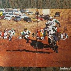 Coches y Motocicletas: POSTER SOLO MOTO MOTOCROS. MANUEL CORONIL VENCEDOR DE LA COPA JUNIOR 75. 30 CM X 45CM.. Lote 198650135
