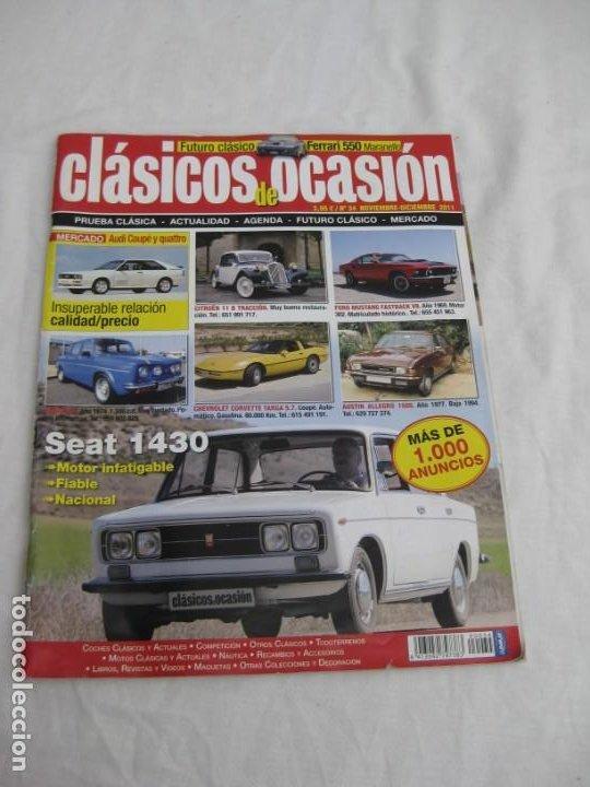 REVISTA CLASICOS DE OCASION. Nº 34. NOV. DICIEMBRE 2011 (Coches y Motocicletas - Revistas de Motos y Motocicletas)