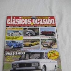 Coches y Motocicletas: REVISTA CLASICOS DE OCASION. Nº 34. NOV. DICIEMBRE 2011. Lote 200060176