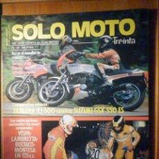 Coches y Motocicletas: SOLO MOTO TREINTA - Nº 19 - AGOSTO 1984 - YAMAHA XJ 600 SUZUKI GSX 550 ES, DENNIS NOYES. Lote 200190016