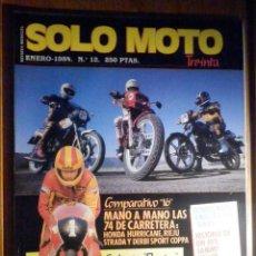 Coches y Motocicletas: SOLO MOTO TREINTA - Nº 12 - ENERO 1984 - HONDA HURRICANE, RIEJU STRADA, DERBY SPORT COPPA. Lote 200190432