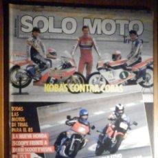 Coches y Motocicletas: SOLO MOTO TREINTA,30 - Nº 24 - ENERO 1985 - KAWASAKI GPZ600, YAMAHA XJ600, HONDA SCOOPY, VESPA DERBI. Lote 200190933